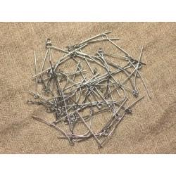 50pc - Tiges Clous à Oeil Acier Chirurgical 30mm 4558550023087