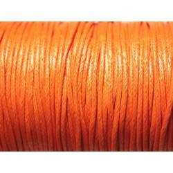 5 Mètres - Cordon de Coton Ciré 1.5mm Orange 4558550023148