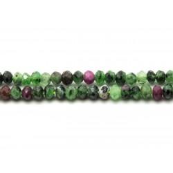 10pc - Perles de Pierre - Rubis Zoïsite Rondelles Facettées 3x2mm 4558550023452