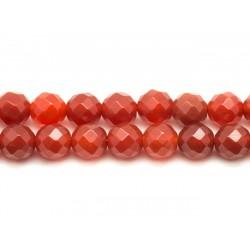 5pc - Perles de Pierre - Cornaline Boules Facettées 10mm 4558550023551