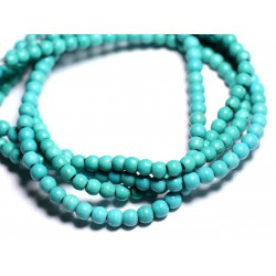 40pc - Perles Turquoise Synthèse Boules 4mm Bleu Turquoise 4558550023940