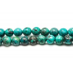 1pc - Perle Turquoise Naturelle Boule 6-8mm 4558550024015