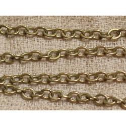 1m Chaîne Bronze Métal Qualité 4.5 x 3.5 x 0.8 mm 4558550024077