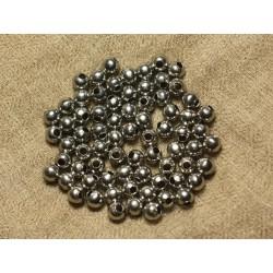 40pc - Perles Acier Boules 6mm 4558550024275