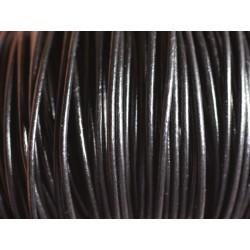 5m - Cordon Cuir Véritable Noir 1.5mm 4558550024411