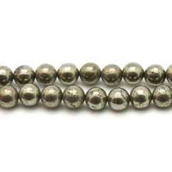 4pc - Perles de Pierre - Pyrite Dorée 12mm 4558550024626