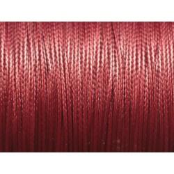 10 mètres - Cordon Coton Ciré Rouge Bordeaux 0.8mm 4558550024633