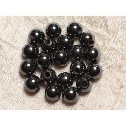 8pc - Perles de Pierre Perçage 2.5mm - Hématite Boules 8mm 4558550024718
