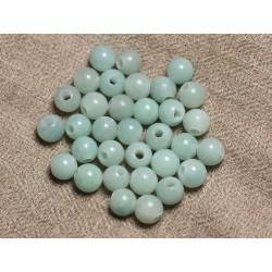 4pc - Perles de Pierre Perçage 2.5mm - Amazonite Boules 8mm 4558550024725