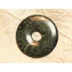 Pendentif Donut Pierre semi précieuse Jaspe Kambaba 45mm n°11 4558550006271