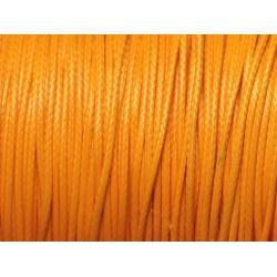 10 mètres - Cordon de Coton Ciré 0.8mm Jaune Orange Safran 4558550093509