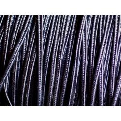 5 mètres - Cordon Ruban Soutache Viscose 3x1mm Bleu marine - 4558550025203
