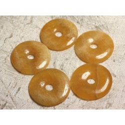 Pendentif Pierre semi précieuse - Calcite Jaune Donut Pi 40mm 4558550025395