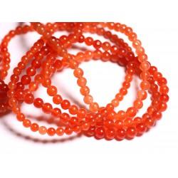 40pc - Perles de Pierre - Jade Orange Boules 4mm 4558550025470