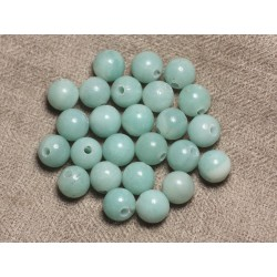 2pc - Perles de Pierre Perçage 2.5mm - Amazonite Boules 10mm 4558550025524
