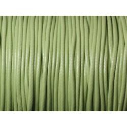 5 Mètres - Cordon de Coton Ciré 1.5mm Vert Anis 4558550025722