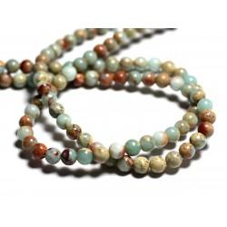 10pc - Perles de Pierre - Jaspe Aqua Terra Boules 6mm 4558550025753