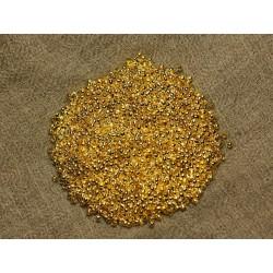 Sachet 1000pc environ - Perles à écraser Métal Doré Qualité 2x1.2mm 4558550025784