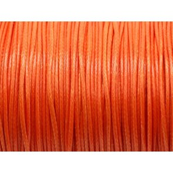 5 Mètres - Cordon de Coton Ciré Orange 1mm 4558550025890