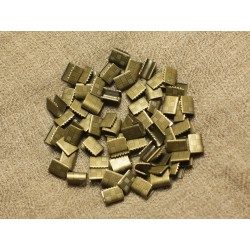 20pc - Embouts sans attache métal Bronze sans nickel 7x5.5mm 4558550026606