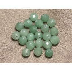 2pc - Perles de Pierre Perçage 2.5mm - Aventurine Facettée 10mm 4558550026682