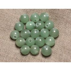 5pc - Perles de Pierre Perçage 2.5mm - Aventurine Boules 10mm 4558550026743