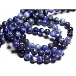 10pc - Perles de Pierre - Sodalite Boules 6mm 4558550026934
