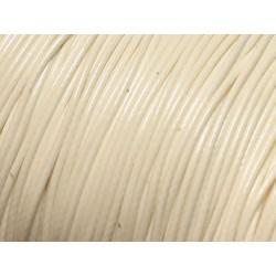 10 Mètres - Cordon de Coton Ciré 0.8mm Blanc 4558550027276