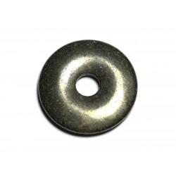 Pendentif Pierre semi précieuse - Pyrite Donut Pi 40mm 4558550027412