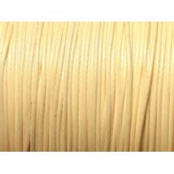 10 Mètres - Cordon de Coton Ciré Blanc Jaune Ivoire 0.8mm 4558550027436