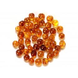 5pc - Perles d'Ambre - Boules irrégulières 8-10mm - 4558550027788