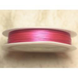 Bobine 70 mètres - Fil Métal Câblé 0.38mm Rose bonbon fluo brillant - 4558550021182