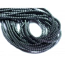 40pc - Perles de Pierre - Hématite Boules 2mm 4558550027894