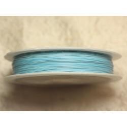 Bobine 70 mètres - Fil Métal Câblé 0.38mm Bleu clair pastel - 4558550019189