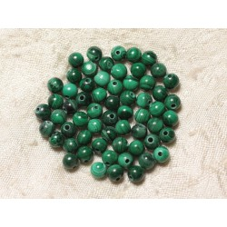 5pc - Perles de Pierre - Malachite naturelle Boules 5mm 4558550028372