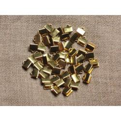 20pc - Embouts métal doré qualité sans nickel 7x5mm 4558550029713