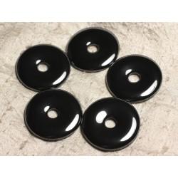Pendentif Pierre semi précieuse - Hématite Donut Pi 40mm 4558550029843