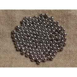 20pc - Perles Métal Argenté Rhodium - Boules 4mm 4558550031150