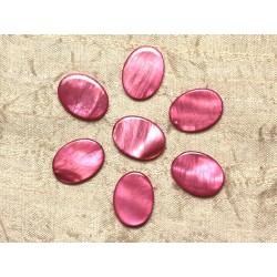 5pc - Perles de Nacre Ovales 20x15mm Rose 4558550031808
