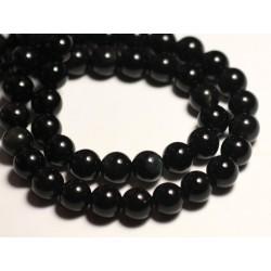 10pc - Perles de Pierre - Obsidienne noire Arc en Ciel Boules 8mm 4558550032102