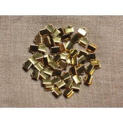 100 pc - Embouts Dorés Métal sans nickel -7x5mm 4558550032409