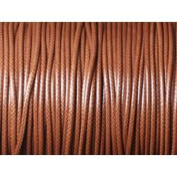 5 Mètres - Cordon de Coton Ciré 1.5mm Marron 4558550032669