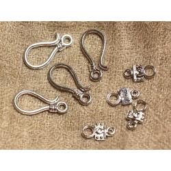 20pc - Fermoirs Crochets Métal Argenté Qualité 24 x 14mm 4558550032836