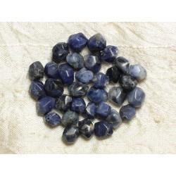5pc - Perles de Pierre - Sodalite Nuggets Facettés 8-10mm 4558550033222