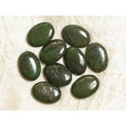 1pc - Perles de Pierre - Pyrite Verte Ovales 25x18mm 4558550033451