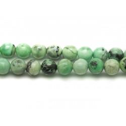 10pc - Perles de Pierre - Turquoise Verte Boules 4mm - 4558550033635