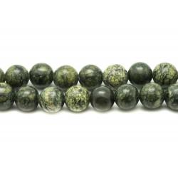 30pc - Perles de Pierre - Serpentine Boules 4mm - 4558550033673