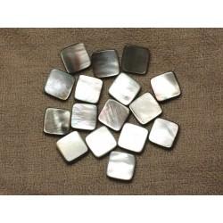 4pc - Perles Nacre Noire naturelle - Losanges 14x12mm 4558550033710