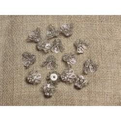 Coupelles Métal Argenté Plaqué Rhodium 10x6mm - Sac 10pc 4558550034533