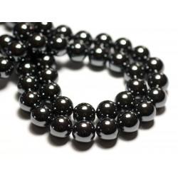 20pc - Perles de Pierre - Hématite Boules 8mm 4558550034700